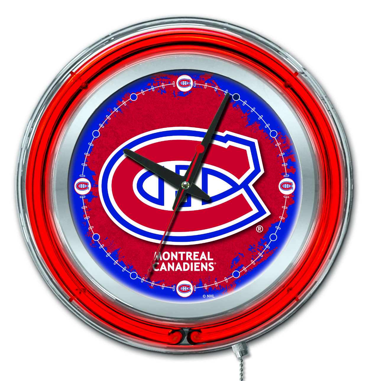 Montreal Canadiens Double Neon Ring 15quot dia Logo Clock  : Clk15MonCan from zerbee.com size 1174 x 1200 jpeg 174kB