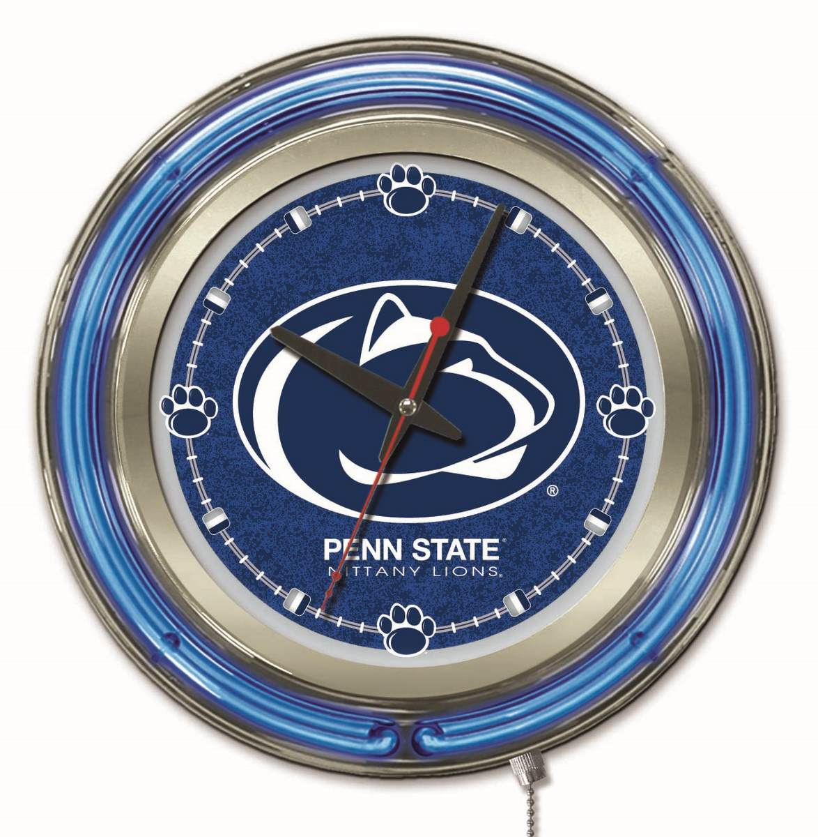 Penn State Double Neon Ring 15quot dia Logo Clock Zerbee : Clk15PennSt from zerbee.com size 1174 x 1200 jpeg 171kB