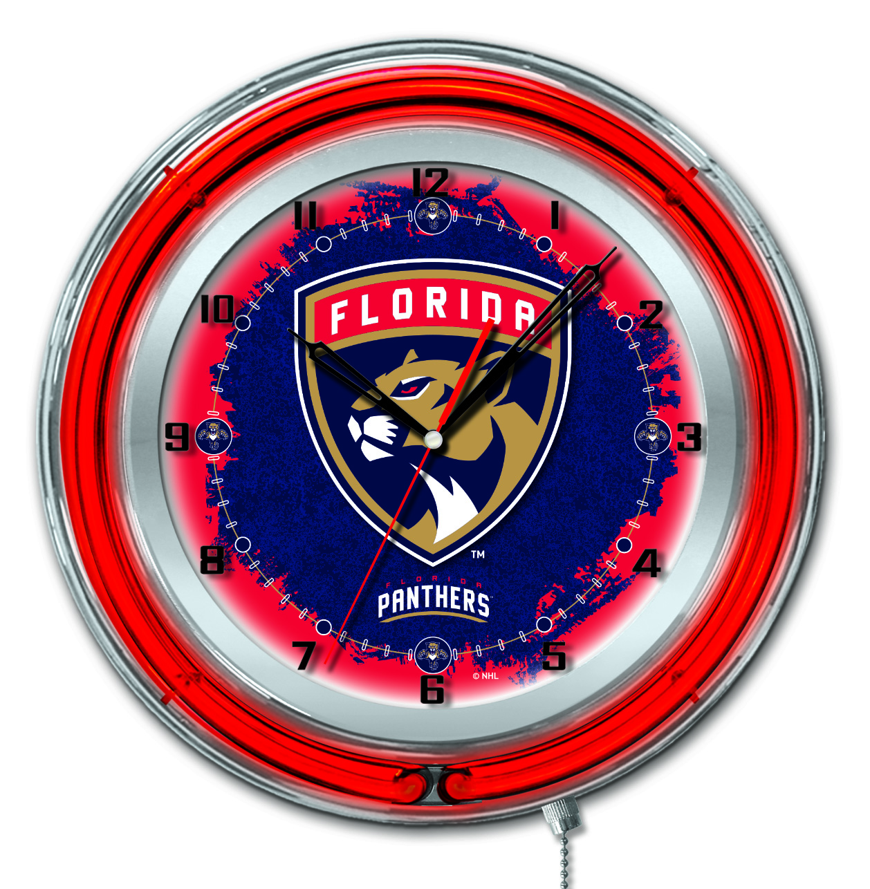 Florida Panthers Double Neon Ring 19quot dia Logo Clock  : Clk19FlaPan from zerbee.com size 1174 x 1200 jpeg 172kB