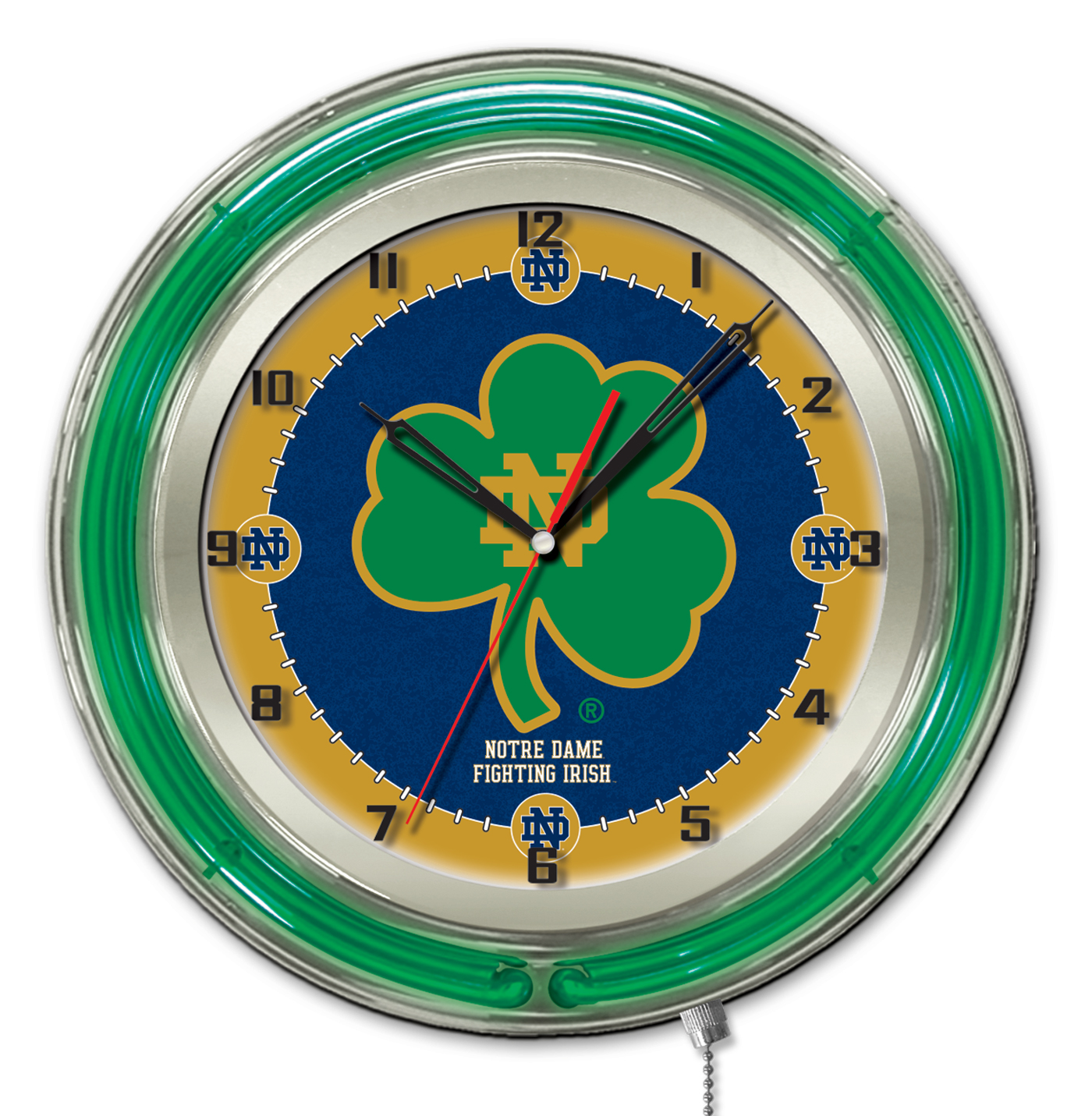 Notre Dame Shamrock Double Neon Ring 19quot dia Logo  : Clk19ND Shm from zerbee.com size 1174 x 1200 jpeg 172kB