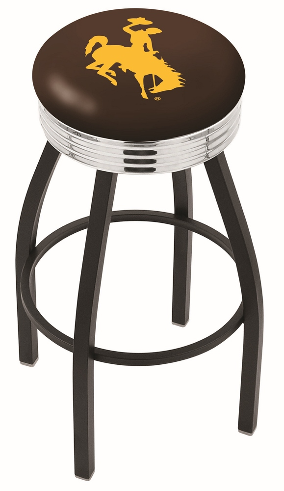 30quot L8B3C Black Wrinkle Wyoming Swivel Bar Stool with  : L8B3CWymng from zerbee.com size 579 x 1000 jpeg 135kB
