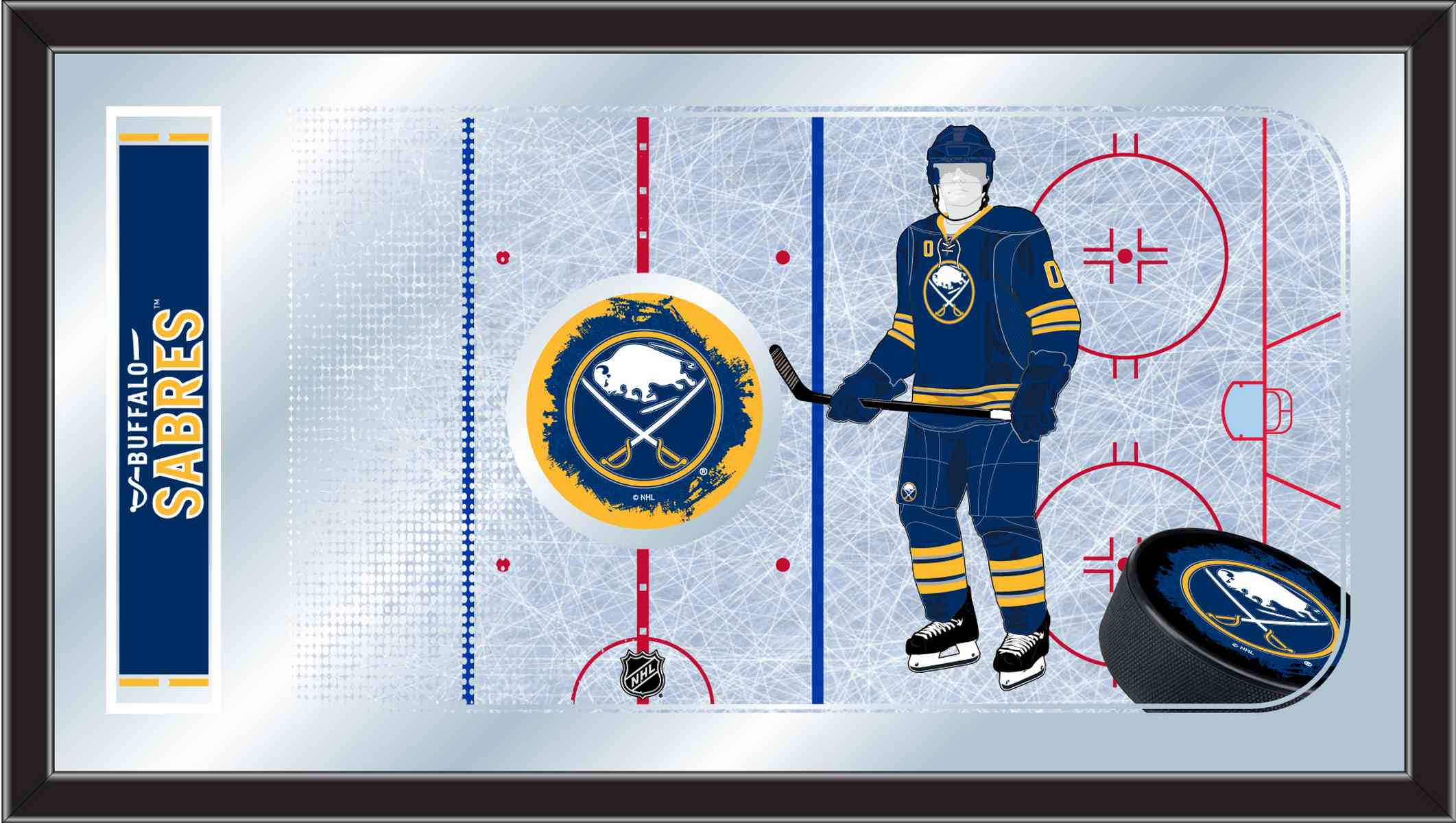 Buffalo Sabres 15quot x 26quot Hockey Rink Mirror Zerbee : MRinkBufSab from zerbee.com size 2123 x 1200 jpeg 174kB